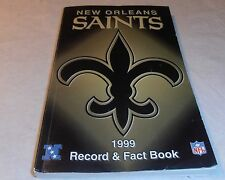 VINTAGE OLD 1999 NEW ORLEANS SAINTS RECORD & FACT PAPERBACK BOOK