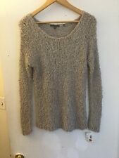 Vince Fuzzy Gray/Silver Shimmering Sweater, Size M, New! $375