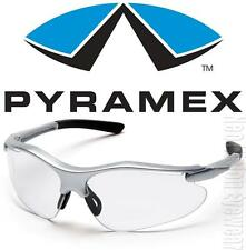 Pyramex Fortress Silver Frame Clear Lens Safety Glasses Motorcycle Z87+