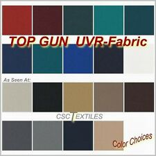 "TOP GUN UVR Boat FABRIC 62""w x Per-YARD/L Cover/Awning ROLLED + COLORS"