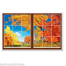 AUTUMN Window Scape INSTA VIEW Fall Party Decoration THANKSGIVING Photo Prop