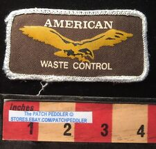 Vtg Advertising Patch American Waste Control Garbage Truck Trash Tulsa OK 62K6
