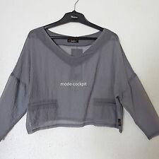 Chalona  statt 68,00 kastiges Shirt Überwurf Tüll taupe Einheitsgröße 46-48