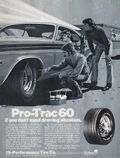 1973 DODGE CHALLENGER ~ CLASSIC ORIGINAL PRO-TRAC TIRE MUSCLE CAR AD