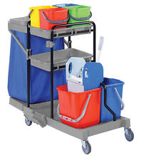 Janitorial Cleaning Cart, Cleaning and Housekeeping Trolley for Schools & Shops