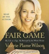 """""""FAIR GAME""""  Political biography by Valerie Plame Wilson audiobook on CD"""