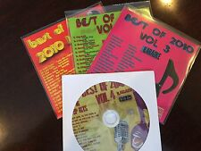 BEST OF 2010 VOL 1-4 KARAOKE SET CD+G POP TAYLOR SWIFT RIHANNA SADE MAROON 5