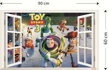 3D Window Toy Story Wall Sticker Art Removable Decals Kids Nursery Room Decor