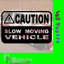 Caution Slow Moving Drift invierno JDM Sticker Adhesivo OEM Shocker invierno auto