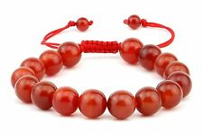 Natural 10MM Red Agate Spiritual Lucky Adjustable Bracelet  fits all Men women