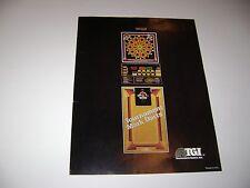 TGI Tournament Games Inc. Mark Darts Arcade Game Original sales flyer brochure