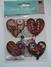 Ek success jolee's boutique steampunk coeurs dimensional stickers bnip