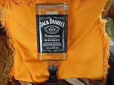 Jack Daniels large 1.5 ltr optic empty Whiskey bottle upcycle lamp home bar