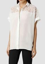 Bnwt Allsaints Lilja shirt.chalk. Silk. Uk 10 (fits 12). £148