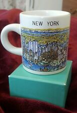"""New York Citymugs espresso cup """"View of the world"""" Twin Towers"""