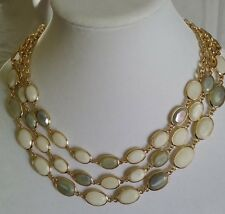 NWT-MINT! TALBOTS Multi-strand Mother-of-Pearl Station Necklace