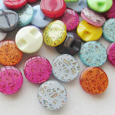 Lots Colors Cat's Eye Plastic Buttons For Sewing Accessories/Craft 100pcs