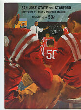 Stanford vs  San Jose State College Football Program Sept 21,1963  MBX66