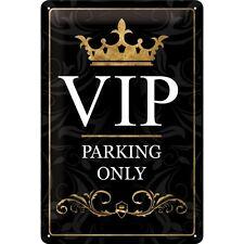 VIP Parking only Blechschild Schild Blech Metall Metal Tin Sign 20 x 30 cm