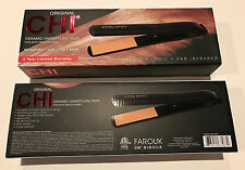 "100% Authentic CHI Original Pro 1"" Black Ceramic Hair Straightener Flat Iron New"