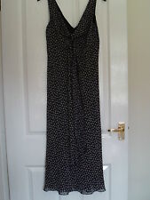 M & S New Size 12 Long Sleeveless Summer Maxi Dress Paisley Pattern Fully Lined