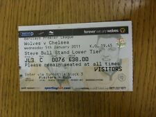 05/01/2011 Ticket: Wolverhampton Wanderers v Chelsea  (folded). Thanks for viewi