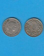 Suisse Helvétia Switzerland 5 Rappen Cuivre-Nickel 1926 Exemplaire N° 1