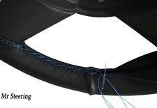 Pour chevrolet bel air nn. 61-64 noir Cuir véritable Couverture volant bleu ciel ST