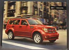 2009 Dodge Nitro Catalog Sales Brochure SE SLT R/T Excellent Original 09