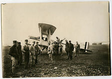 PHOTO ANCIENNE-AVION ESCADRILLE SPA 90 USA MOTEUR LIBERTY-PLANE-Vintage Snapshot
