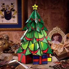 Holiday Decor Stained Glass Christmas Tree Illuminated Sculpture