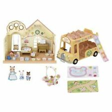 Sylvanian Families Forest Nursery Gift Set With Double Decker Bus & Accessories