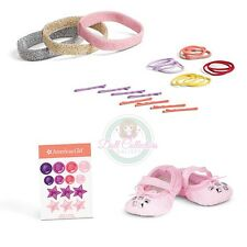 American Girl LE ISABELLE SET DANCE CASE 5 PC SLIPPERS PINS ELASTIC HEADBAND