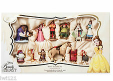 Beauty & The Beast Deluxe Sketchbook Ornament Set 12 Disney Limited Edition NEW
