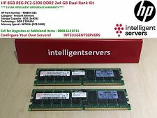 HP 8GB REG PC2-5300 DDR2 2x4 GB Dual Rank KIT * 408854-B21 *