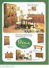 PUBLICITE ADVERTISING 106  1973  les meubles  patinés  Rémy noyer de France