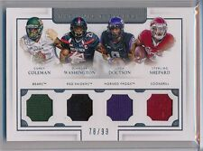 COLEMAN / WASHINGTON / DOCTSON / SHEPARD  - 2016 National Treasures Quad  /99