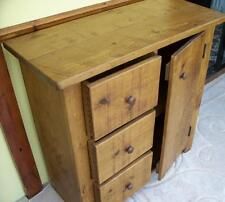 REAL SOLID WOODEN SIDEBOARD CUPBOARD DRESSER BASE UNIT DRAWERS RUSTIC PLANK PINE