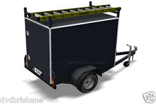 TRAILER PLANS - ENCLOSED BOX TRAILER PLANS - Size - 2100x1200mm (7x4x4½ft)