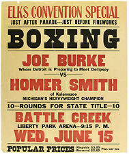 A4 Poster – Vintage Boxing Poster Print Joe Burke Vs Homer Smith (Picture Print)