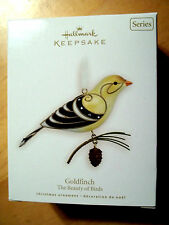 GOLDFINCH,THE BEAUTY OF BIRDS,Yr 2008 Hallmark Ornament,#4 in Series