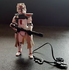 Star Wars Legacy BD37 Clone Commander Deviss Red ARC Trooper ROTS Loose Figure