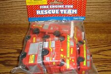 #6 six Vehicle Fire Engine Fun RESCUE TEAM Birthday Party Favors -Treats  * NEW