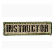 INSTRUCTOR ARMY TACTICAL MILITARY BADGE 3D EMBROIDERED SWAT ISAF VELCRO PATCH