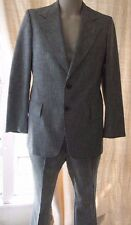 Mens 1970s Vintage Plaid Andhurst Leisure Suit Wide Lapels Size 40 Flare 33/30