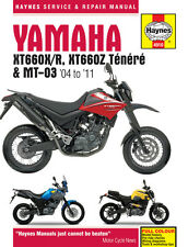 HAYNES 4910 MOTORCYCLE SERVICE REPAIR OWNER MANUAL YAMAHA XT660 MT-03 2004 - 11