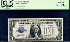 --1928A $1 Silver Certificate (( STAR )) PCGS About-New 53 PPQ *29513523A