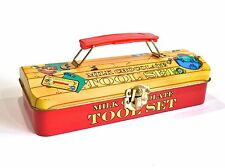 NOVELTY CHOCOLATE TIN TOOL BOX CASE W/CARRY HANDLE BY CREATIVE CONFECTIONERY