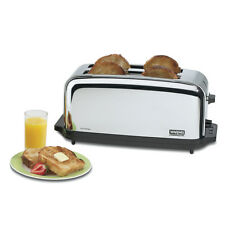 WARING TOASTER CHROME COMMERCIAL 4 SLICE W/ TWO 1-3/8IN SLOTS - WCT704