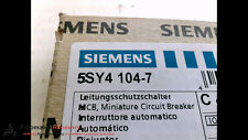 SIEMENS 5SY4104-7, CIRCUIT BREAKER, 1 POLE, 480VAC,, NEW #197466